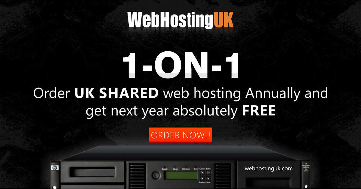 1 ON 1 Web hosting offer